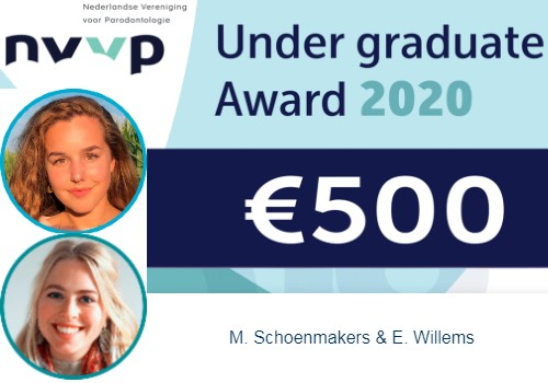 Max Schoenmakers en Eveline Willems winnen NVvP Under-graduate award 2020